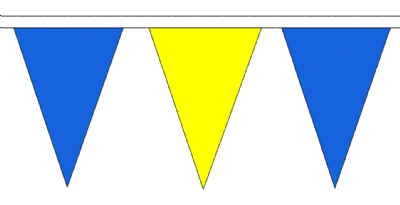 Blue and Yellow Traditional 20m 54 Flag Polyester Triangule Flag Bunting